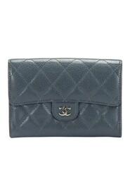 CC Timeless Caviar Leather Small Wallet
