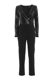 Sequined top cady jumpsuit