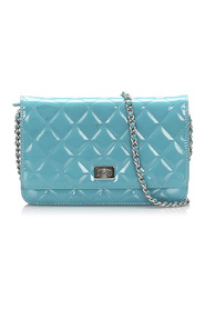 Reissue Quilted Patent Leather Wallet on Chain