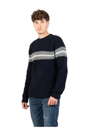 Sweater with horizontal band