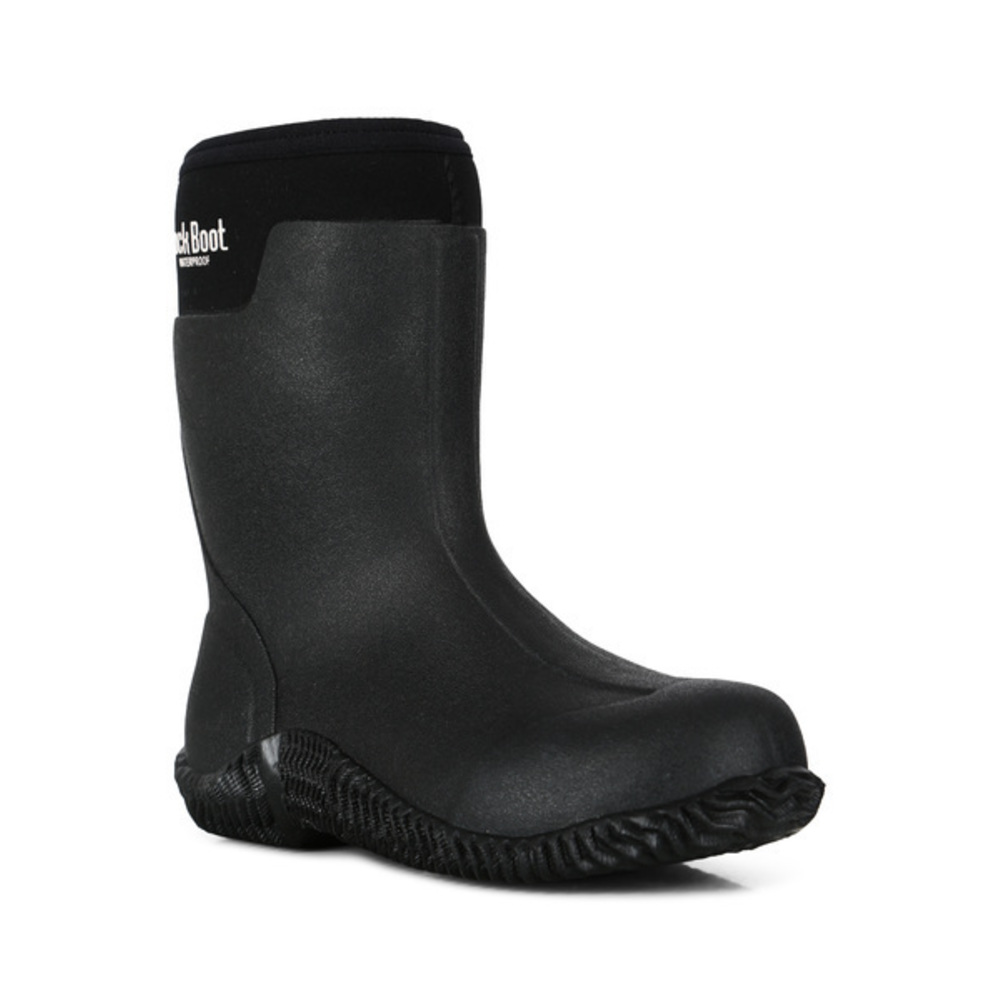 Gray Sort Boo Støvel | Dock Boot | Gummistøvler | Miinto.no