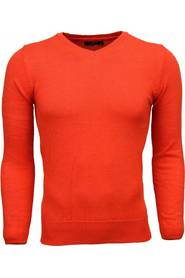 Casual Sweater Exclusive Blank V-neck