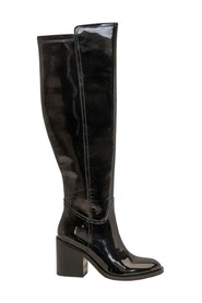 Patent high boots