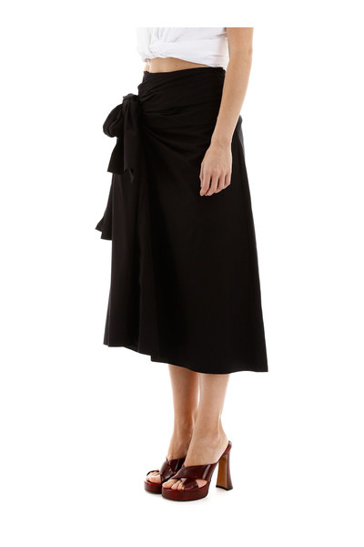 Black Poplin Skirt Marni Spódnice Do Kolan