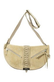 Braided Half Moon Shoulder Bag