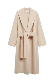 Maxi belted wool coat