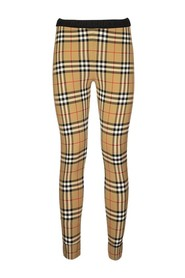 BELVOIR Logo Detail Vintage Check Leggings