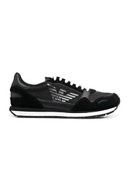 Mesh sneakers with leather details