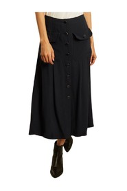 Candice butonned long skirt with pockets