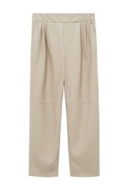 Darts faux-leather trousers