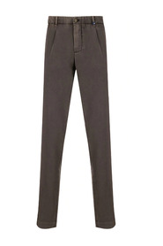 Straight leg pleated detail trousers
