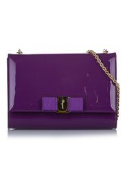 Vara Ginny Patent Leather Crossbody Bag