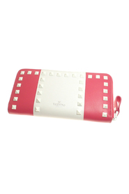 Rockstud Leather Long Wallet