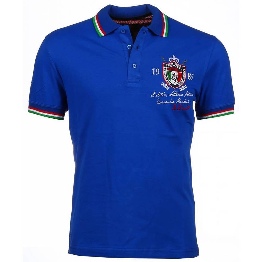 Italiaanse Polo - Korte Mouwen Heren - Three Shields
