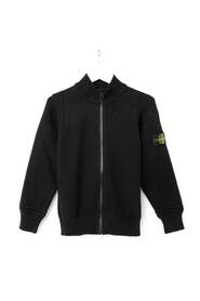 Sweater with Zip and Logo