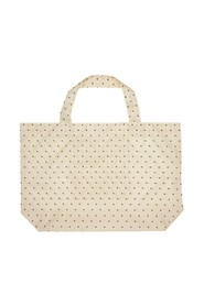 dotted foldable shopper