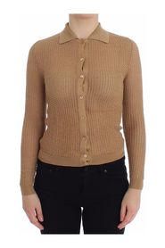 Knitted Polo Cardigan Sweater