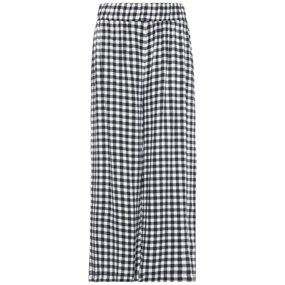 Trousers checked - wide leg