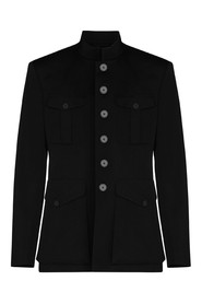 Buttoned Military-Inspired Jacket