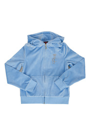 Placid Blue Juicy Couture Velour Zip Through Placid Blue Sukkertøy