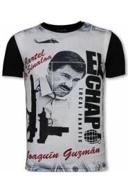 El Chapo - Digital Rhinestone T-shirt