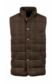 Quilted Check Wool Vest