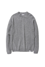 Lysegrå Norse Projects Sigfred Lambswool Skjorte