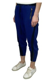 cropped joggers with zip detailing
