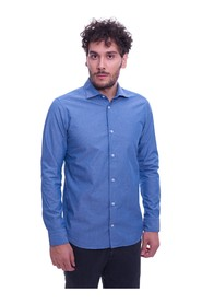 SLIM FIT MASTRICAMICIAI SHIRT WITH BLUE PATTERN