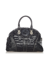 pre-owned Snow Glam Leather Handbag Leather Patent Leather