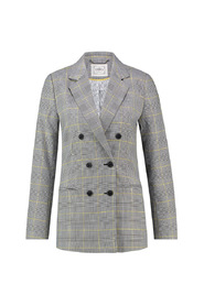 Clara check blazer lurex accent