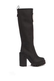 Chunky knee-length boots