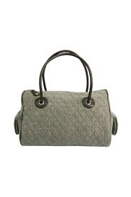 Quilting Women's Leather Tweed Tote Bag