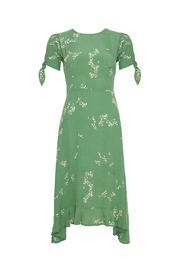 Emilia Midi Dress - Myrtille Grønn blomsterprint