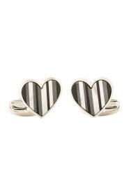 Monochrome Heart Cufflinks