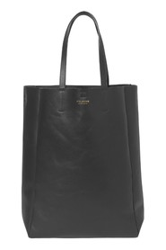 Shopper - high Black leather with brass details