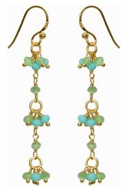 Grape Chalcedony Earrings