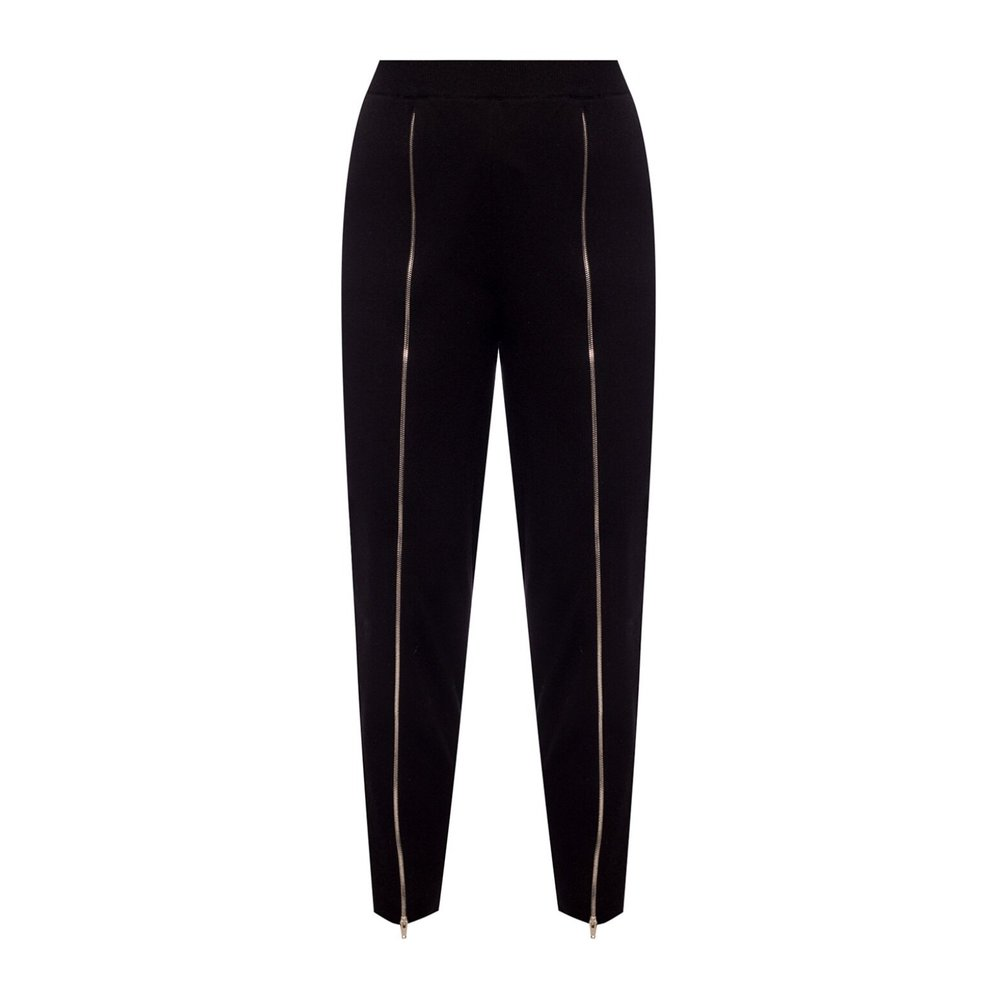 Trousers with zippers