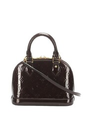 pre-owned Monogram Vernis Alma BB patent leather