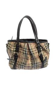 Pre-owned Haymarket Check PVC and Leather Lowry Tote