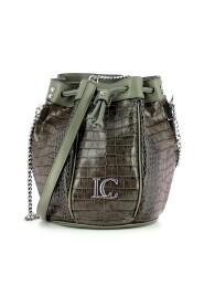 Gigi bucket bag with crocodile print
