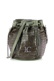 Gigi bucket bag with crocodile print