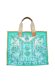 SHOPPING BAG WITH LOGO PRINT