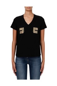 FRINGED LOGOS T-SHIRT