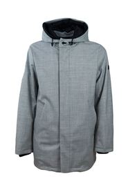 Men's wool parka with hood