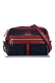 Pre-owned Mini Ophidia Suede Crossbody Bag