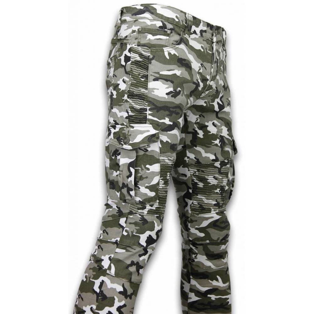 Green Exclusive Ripped Jeans | True Rise | Jeansy slim fit