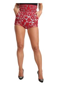 Floral Embroidered Mini Hot Shorts