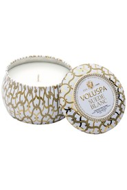Dec. Tin Candle Suede Blanc
