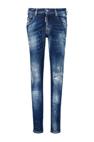 Bleached-effect jeans